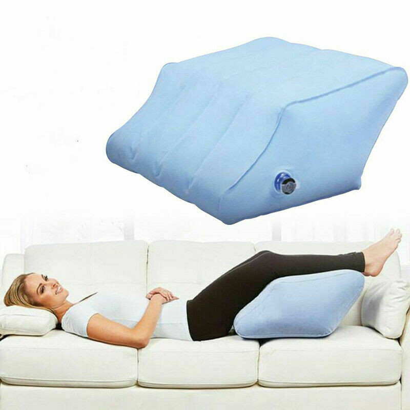 Leg Support Pillow Inflatable Memory Foam Leg Foot Rest Pressure Relief Cushion Home