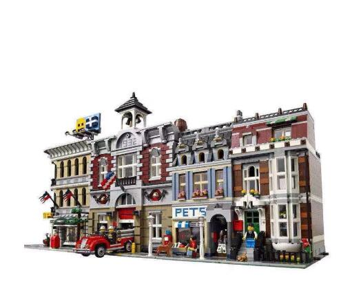 Model Building Block Bricks Toys Compatible with Creators City Street House 15001 15002 15003 15004 15005 15006 15007 15010 image