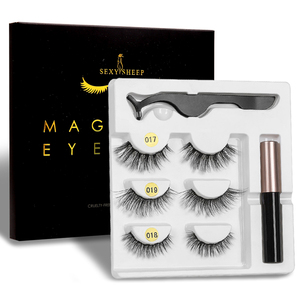 Image 1 - SEXYSHEEPขนตาปลอมEyeliner Eyelash Curler Set5แม่เหล็กธรรมชาติยาวขนตาปลอมแม่เหล็กอายไลเนอร์