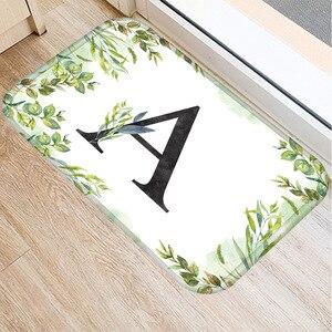 Image 2 - Alfombra de franela Rectangular con alfabeto de 40*60 colores, alfombra de suelo lavable, alfombra decorativa para dormitorio de casa, alfombra antideslizante para Baño