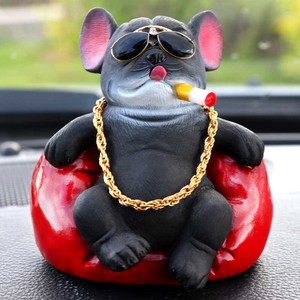 Cute Bulldog Car Dashboard Toy