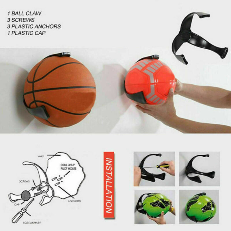 Balls Claw Wall Hung Basketball Football Storage Rack Balls Display Stand Home Room Storage Basketball Holders