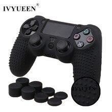 IVYUEEN 9 In 1 per Dualshock 4 PS4 Slim Pro Controller pelle con borchie custodia protettiva antiscivolo In Silicone morbido