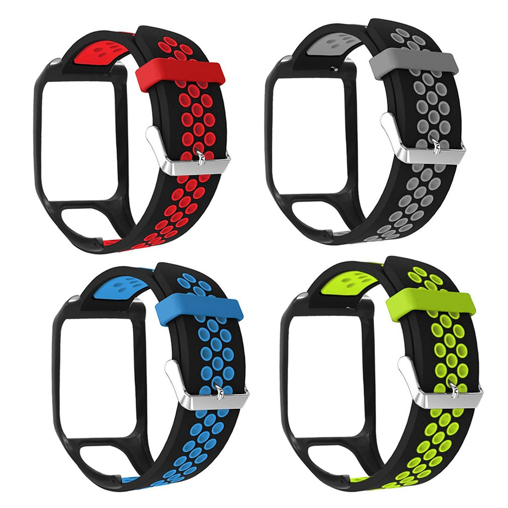 For Tomtom Runner3 For Tomtom Adventurer Two-Color Air Hole Pin Buckle Strap Professional Fashion Simple Design