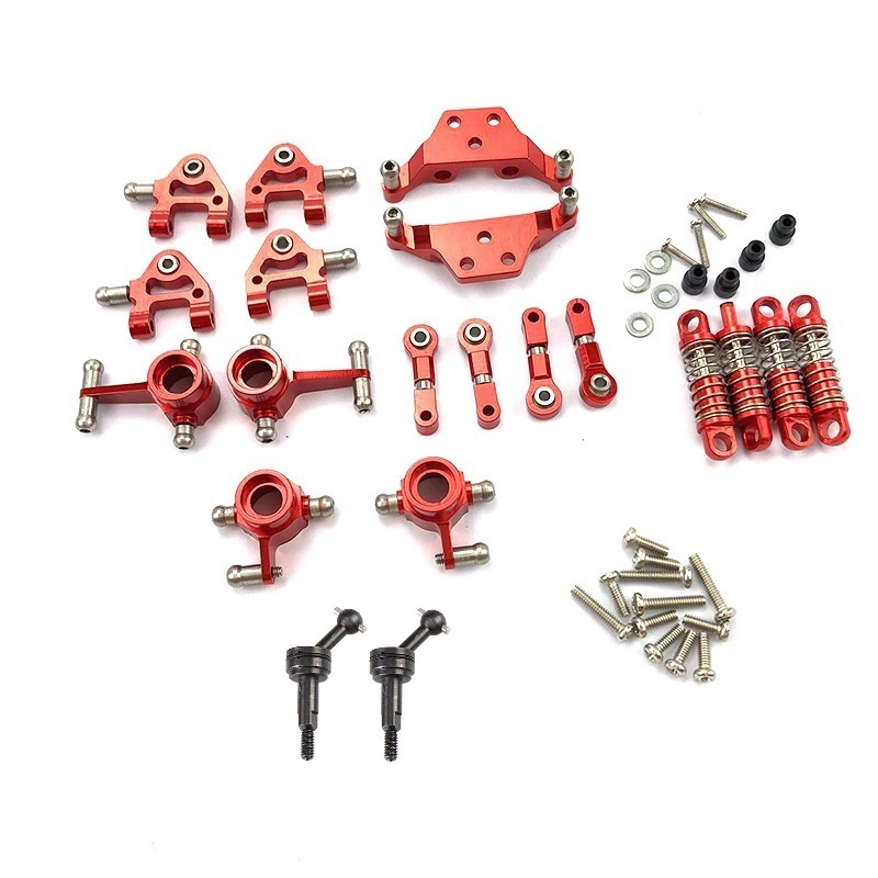 Metal Full Set Upgrade Parts Shock Absorber for Wltoys 1/28 K969 K979 K989 K999 P929 P939 Rc Car Parts,Red