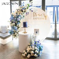 JAROWN Artificial Flower Row Flower Ball Wedding Stage Background Wall Decoration Fake Flowers Wedding Photography Photo Props
