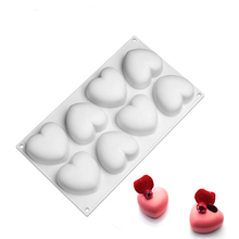 8 Heart Silicone Cake Mold Baking Tools For Kitchen Chocolate 3D Bread Mousse Pudding Desserts Decorating Moulds Bakeware Pan цена и фото