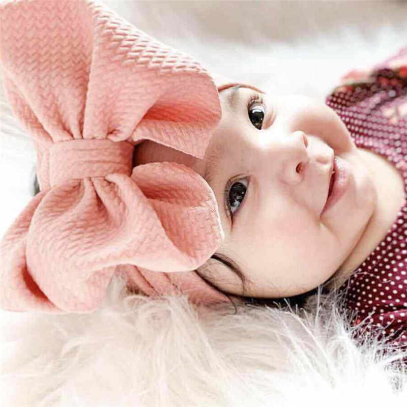 2019 nueva diadema para bebé recién nacido, bebé, niña, niño, ropa de cabeza, lazo sólido, turbante suave, diadema, regalos para la Ducha del bebé