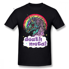 Zombie T Shirt Zombie Unicorn Death Metal T-Shirt Funny 100 Cotton Tee Shirt Fashion Big Graphic Men Short-Sleeve Tshirt 2019 fashion 100% cotton t shirt halloween zombie attack mens graphic t shirt tee shirt hoodies