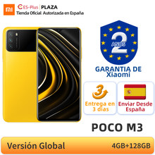 POCO-teléfono inteligente M3 versión Global, 4GB y 128GB, Snapdragon 662, ocho núcleos, pantalla de 6,53 pulgadas, DotDrop, Triple cámara de 48MP, batería de 6000mAh