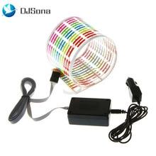 DJsona Car RGB LED Music Rhythm Flash Light Sound Activated Sensor Equalizer Rear Windshield Sticker Styling Neon Lamp Hot Sale
