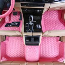 Alfombrillas personalizadas para coche, Material respetuoso con el medio ambiente, de cuero, resistente al agua, para vasto modelo de coche y hacer 3 piezas, juego completo