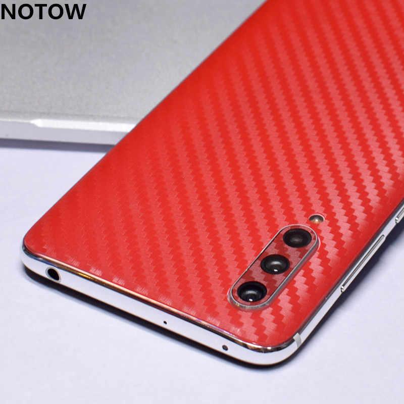 Notow Fashion 3D Serat Karbon Kembali Paste Film Pelindung Stiker untuk XiaoMiCC9/CC9E/8/8SE/8 lite/9se/9