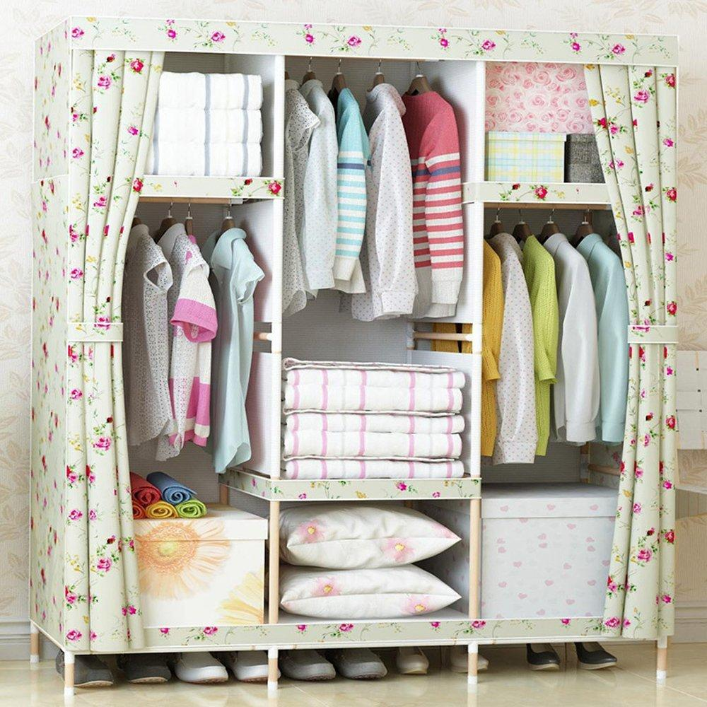 Super Large Family Waterproof Moistureproof Wardrobe Reinforced Bold Wooden font b Closet b font Oxford Cloth