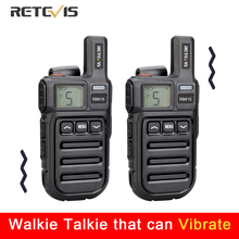 เตือนการสั่นสะเทือน Retevis RB615 MINI PMR Walkie Talkie 2pcs PMR446 PMR วิทยุ FRS VOX แฮนด์ฟรีวิทยุ wireless Cloning
