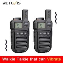 Titreşim hatırlatma Retevis RB615 Mini PMR Walkie Talkie 2 adet PMR446 PMR radyo FRS VOX Handsfree iki yönlü radyo kablosuz klonlama