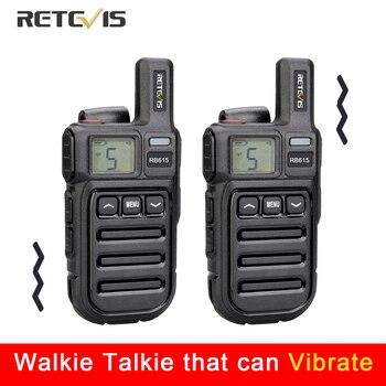 Vibration Reminder Retevis RB615 Mini PMR Walkie Talkie 2pcs PMR446 Radio FRS VOX Handsfree Two-way Wireless Cloning - discount item  50% OFF Walkie Talkie