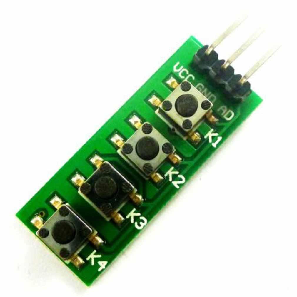 Commutateur de bouton de Module de bouton d'annonce de 4 boutons pour le bloc de construction électronique analogique d'arduino Kc11B04 Module commun de clé de Cathode de 4 boutons