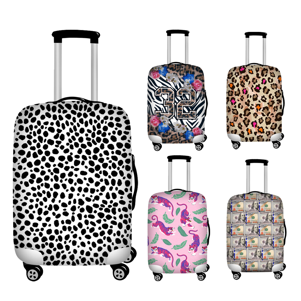 Nopersonality 18-32 Inch Leopard Cover For Suitcase Travel Elasticity Luggage Protective Covers Elastic Travel Trolley Cover