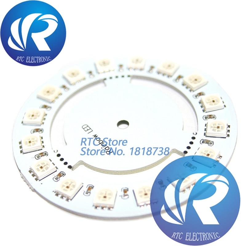 16-Bit 60mm 5V Rainbow Precise WS2812 WS2811 5050 RGB LED Lamp Panel Round Light