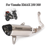 Slip On XMAX 250 300 Complete Exhaust System Muffler Front Link Pipe Connect 51MM Mufflet Tail Pipe For Yamaha XMAX250 2017 2019