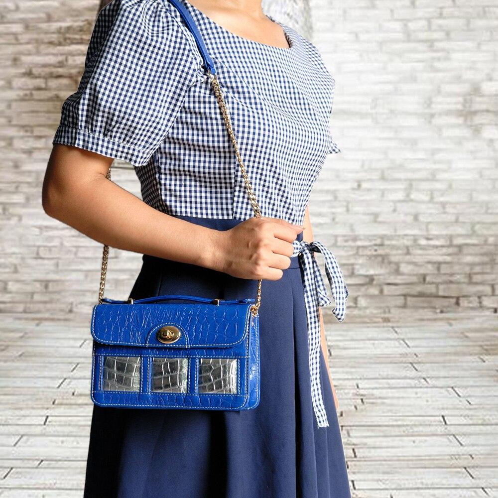 Натуральная кожа, Синяя кожаная сумка через плечо, семейный дизайн, роскошный бренд, сумка тоут для женщин, натуральная кожа