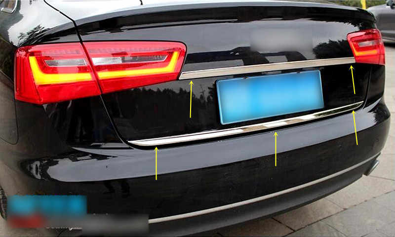 2013-2017 Audi A3 Sportback Chrome Rear Trunk Tailgate Lid Molding Trim S.Steel
