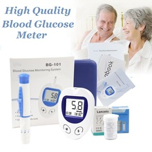 Blood Glucose Meter Sugar Diabetic Test glucometer measuring Medical Blood Sugar Monitor with 50/100pcs Strips Lancets Needle цена и фото