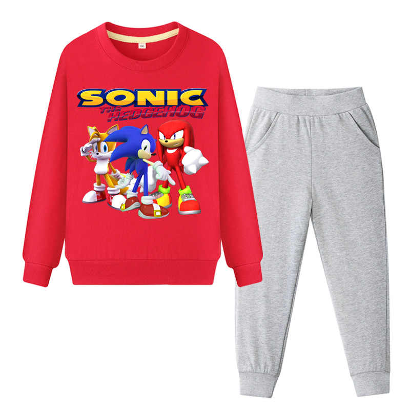 Baby Boys Girls Children Clothing Autumn Sonic The Hedgehog Teen Tops Sweatshirt Pants Sport Suit Kids Clothes Set Tracksuit Aliexpress