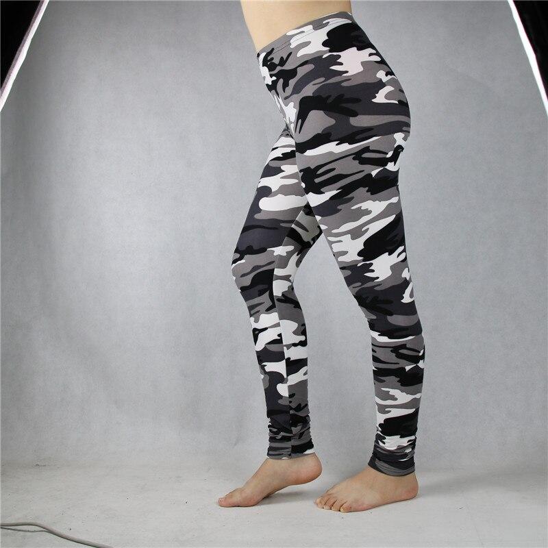 Babbytoro Women Leggings Elastic Waist Camo Workout Fitness Military Print Jeggings Plus Size 7xl 6xl 5xl xs Grey Green Yellow