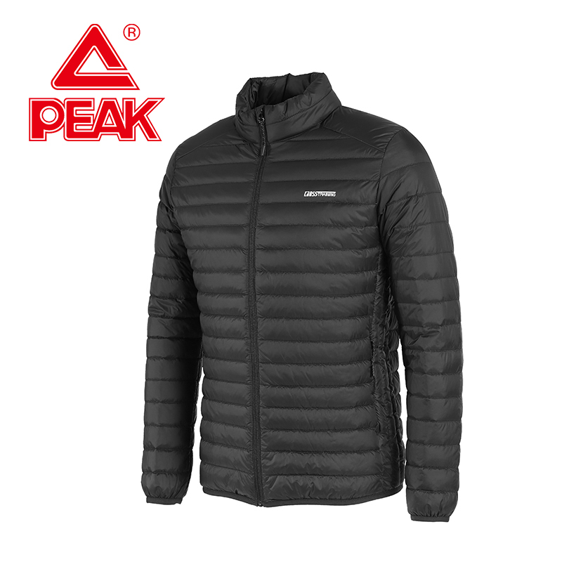 PEAK Men's Thermal Down Jacket Youth Winter Antifouling Sports Jacket Jacket Polyester 90% Grey Duck Down Daddy Warm Jacket