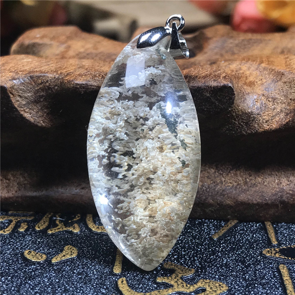 Natural Colorful Phantom Quartz Pendant For Women Man 31x20x16mm Crystal Horse Eye Clear Stone Necklace Pendant AAAAA