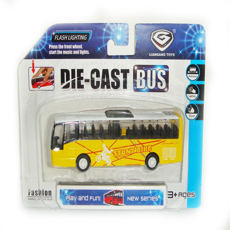 Model Large Size Kindergarten School Bus Bus Children School Bus Toy Model Bus Music Warrior Car