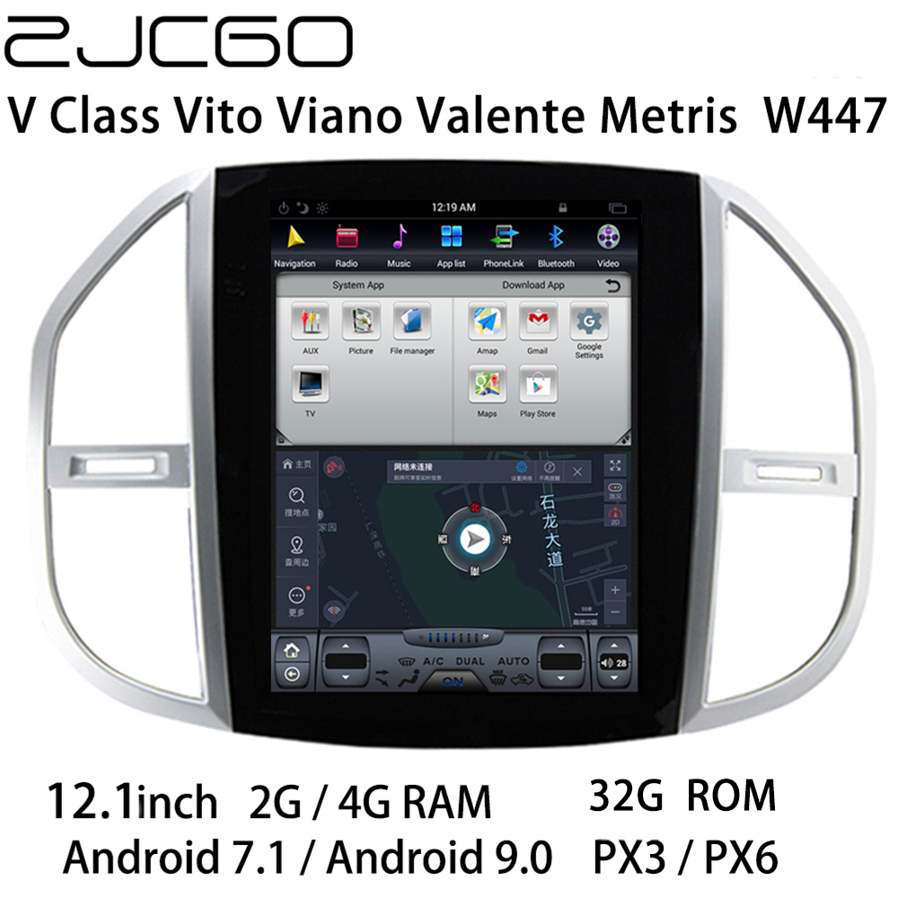 Car Multimedia Player Stereo GPS DVD Radio Navigation <font><b>Android</b></font> Screen for Mercedes Benz V Class Vito Viano Valente Metris <font><b>W447</b></font> image