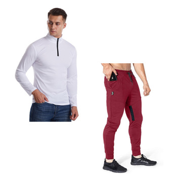 men Fashion New 2piece Set Men Outfits Solid Long Sleeve Tshirt Men+Pants Men Joggers Clothes For Men  Tracksuit Men