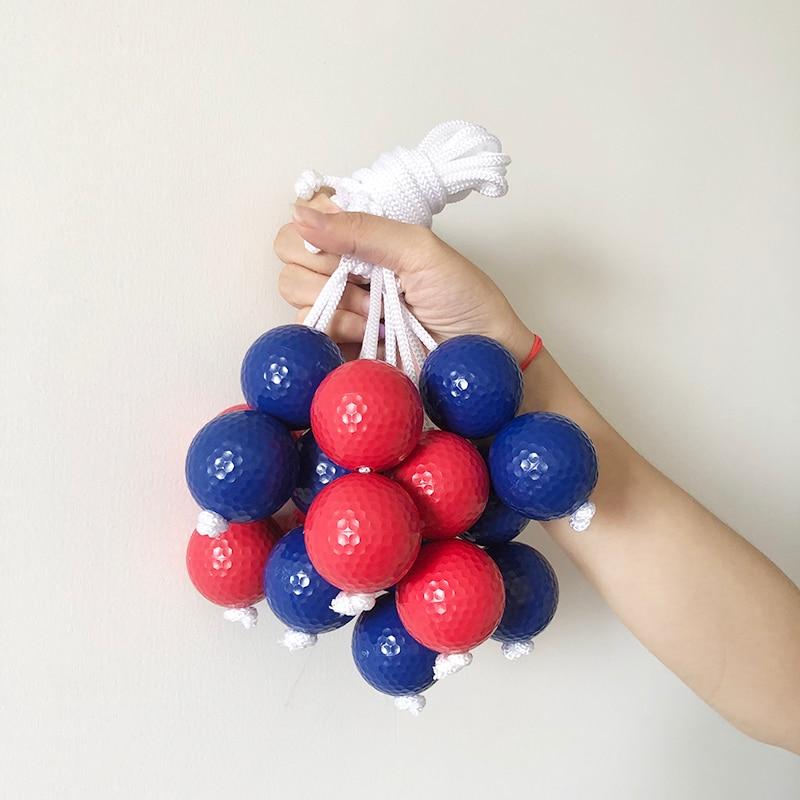 bola buraco de golfe azul vermelho bola de jogo da equipe