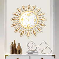 New 3D DIY Metal Art Wall Clock Circular Retro Roman Vintage Large Mute Decorative Clock For Home Office Modern 46x46x5 cm