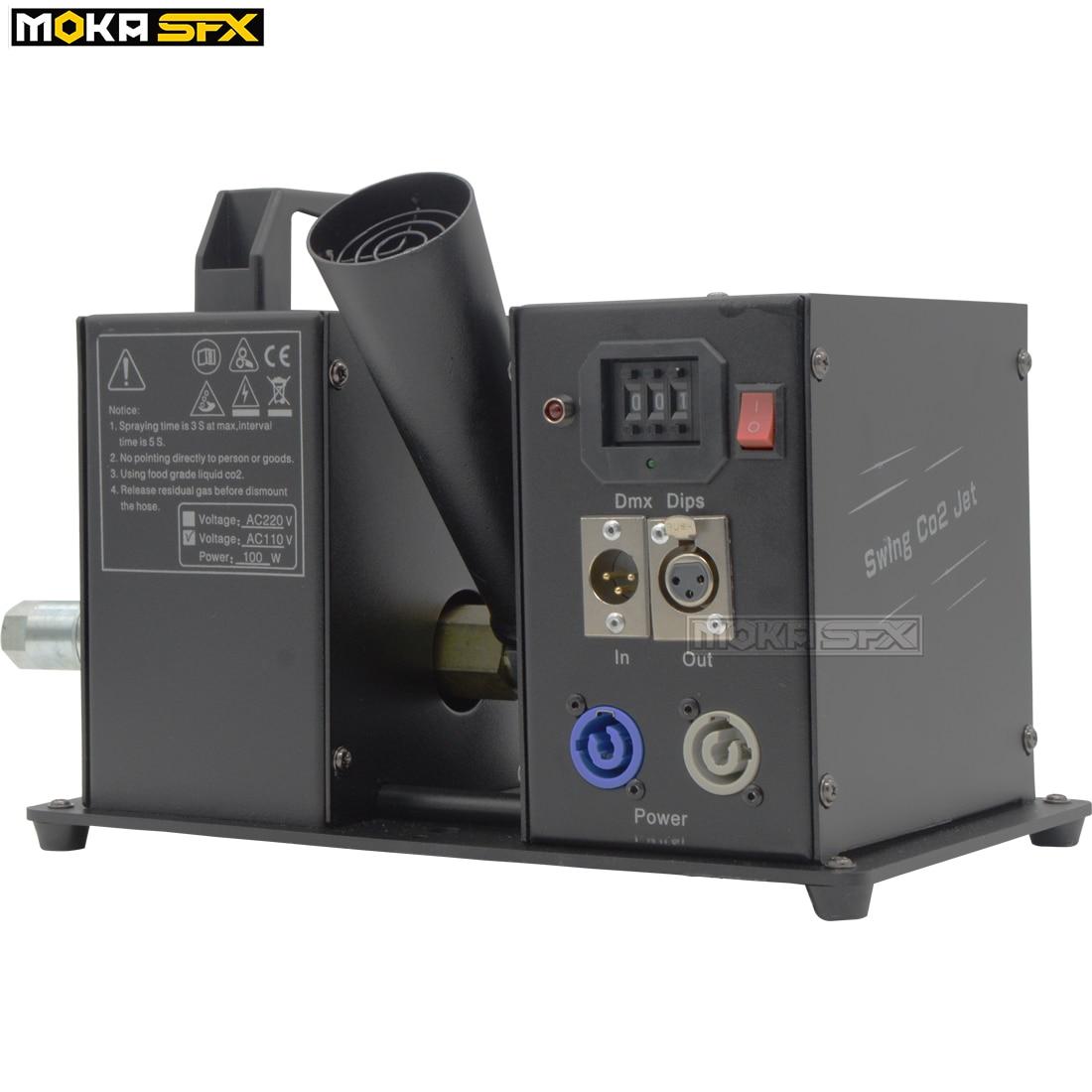 MOKA SFX Swing Co2 Jet Machine New Year Projector Cryo Jet Cannon Spray 8-10m Co2 Jet For Dj Stage Performance