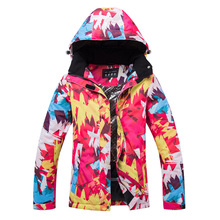 New Ski Suit Female Korean-Style Veneer Double Plate Ski Suit Jacket Wind-Resistant Waterproof Thick Warm Outdoor Tide