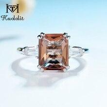 Kuololit Zultanite Diasporeแหวนอัญมณีสำหรับสตรี 925 เงินสเตอร์ลิงเปลี่ยนสีงานแต่งงานเจ้าสาวของขวัญเครื่องประดับFine