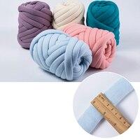 1000g/Ball Super Thick Natural Wool Chunky Yarn DIY Bulky Arm Roving Knit Blanket Hand Knitting Spin Yarn DIY Blanket 60m