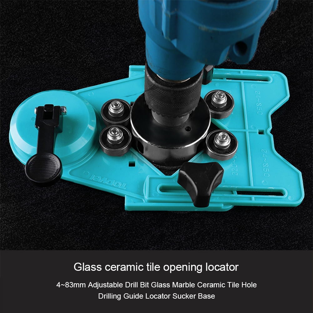 4mm-83mm Adjustable Marble Ceramic Tile Glass Hole Sawing Machine Guide Opening Positioner Rubber Sucker Base