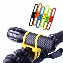 Clip Bicycle-Handlebar-Flashlight Torch-Bands Bandage Bike-Strap Elastic-Belt Silicone