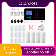 YAOSE GSM SIM Card Home Security Alarm WIFI Wireless Smart Home Kit With Smoke Detector Mini Siren Notice For Power off