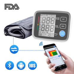 Upper Arm Blood Pressure Monitor Bluetooth Automatic Tonometer Blood Pressure Meter Sphygmomanometer Pulse Heart Beat Rate Meter
