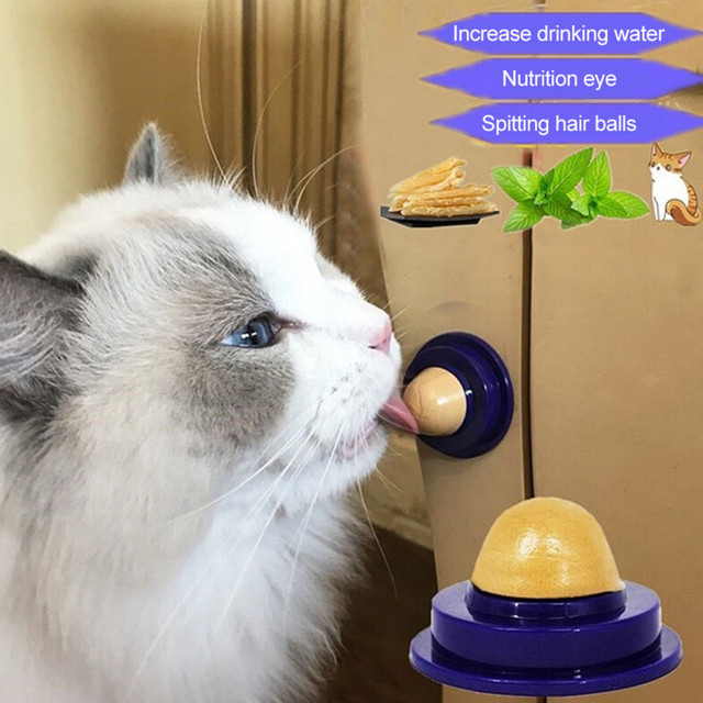 1pcs Healthy Cat Snacks Catnip Sugar Candy Licking Nutrition Gel Energy Ball Toy For Cats Kittens Playing Pet Cat Products NEW
