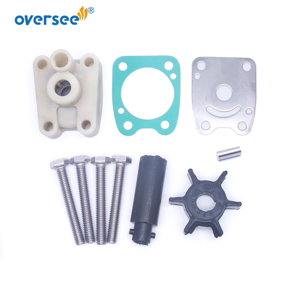 6E0-W0078 Water Pump Impeller Kit For Yamaha Outboard Motor 2T 4HP 5HP Powertec Seapro 5HP 6E0-W0078-A2 6E0-W0078-00