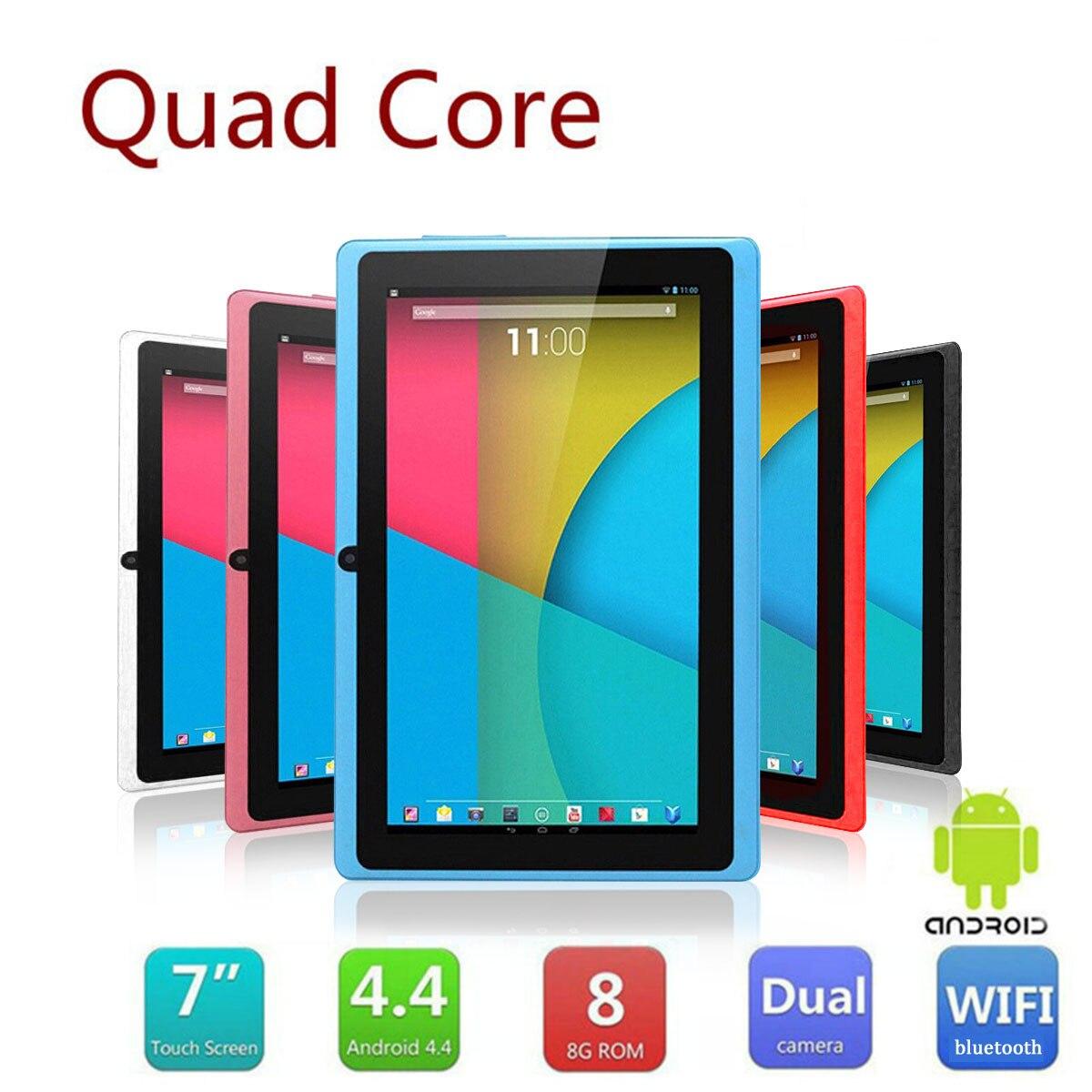 7 pouces Quad Core ordinateur 8GB 512M tablette PC Octa Core système Android 4.4.2 HD Intelligent avec prise européenne MP4 tablette WiFi