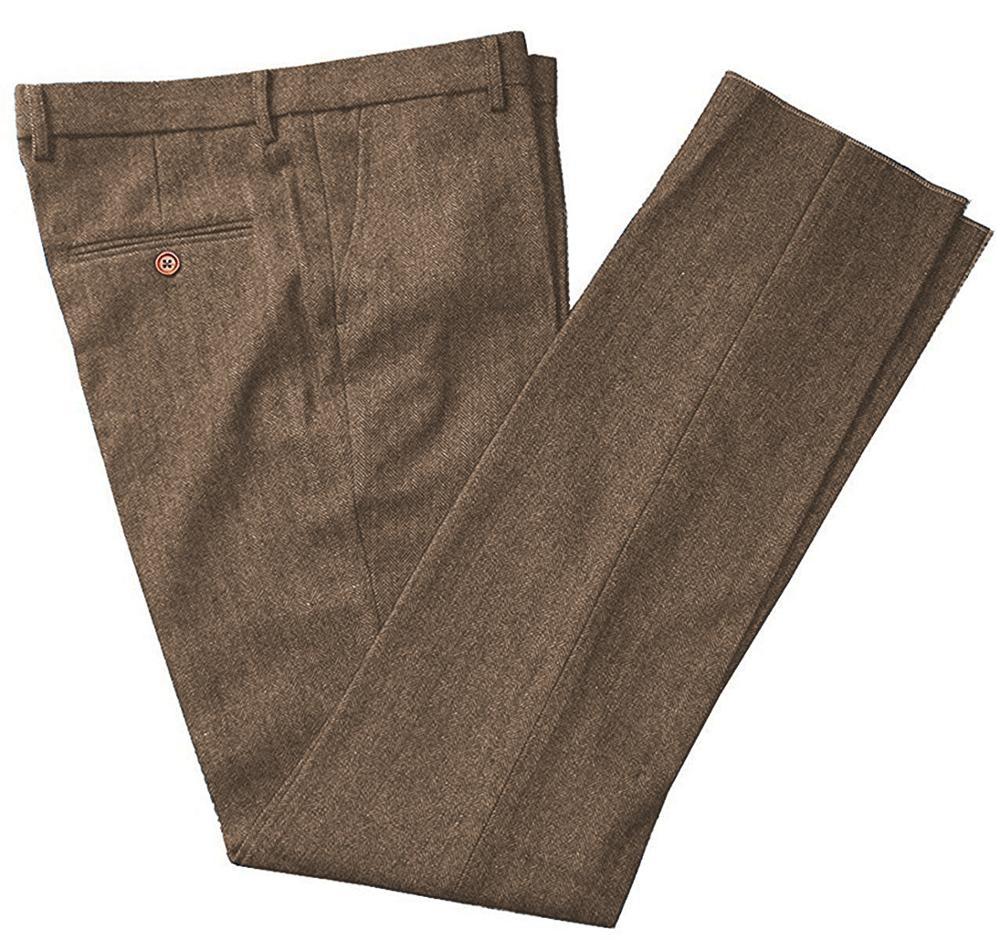 Men's Business Formal Leisure Suit Pants Slim Fit Trousers For Wedding Party With Hidden Expandable Waist Suit Pants