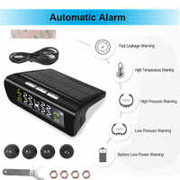 Sistemas universales de monitoreo de presión de neumáticos de coche, con sensores externos, comprobador automático de presión de ruedas, barra de alarma de seguridad psi, 4 neumáticos